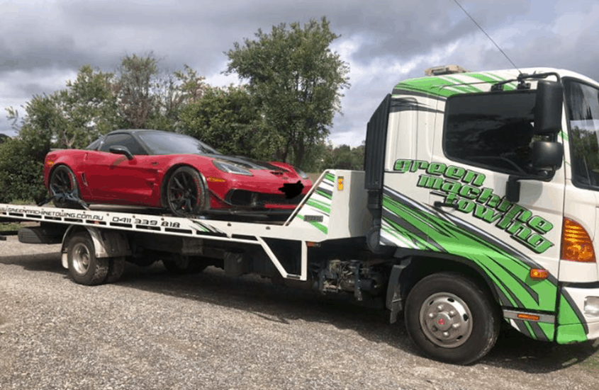 towing-red-sport-car